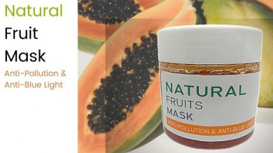 Natural Fruits Mask : Anti Pollution & Anti Blue Light
