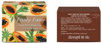Fruity Foam Soap with Whitening Enzyme Papain : ผิวขาว กระจ่างใส