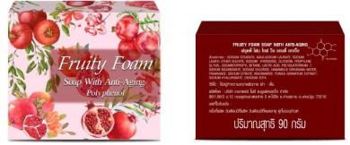 Fruity Foam Soap with Anti Aging Polyphenol ลดเลือนริ้วรอย และจุดด่างดำ